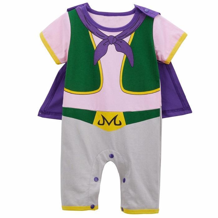Dragon Ball Z Short Sleeve Majin Buu Cosplay Baby Jumpsuit