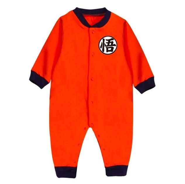 Plain Print Son Goku's Kanji Logo Cosplay Baby Jumpsuit