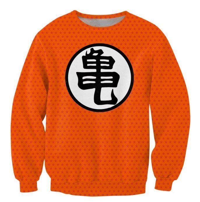 Dragon Ball Goku Master Roshi Stars Pattern Crewneck Sweatshirt