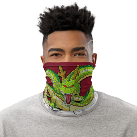 Dragon Ball Z Divine Shenron Red Face Covering Neck Gaiter