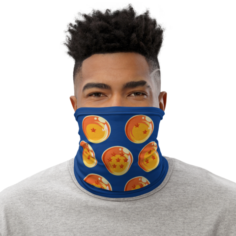 Dragon Ball Z Earth Dragon Balls Blue Face Covering Neck Gaiter