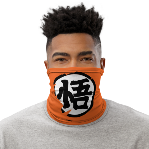 Dragon Ball Z Goku Kanji Wisdom Face Covering Neck Gaiter