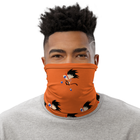 Dragon Ball Z Kid Goku Orange Face Covering Neck Gaiter