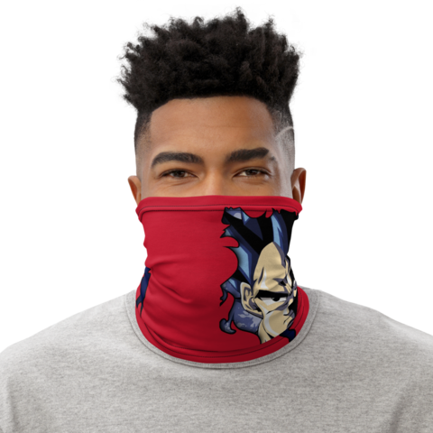 Dragon Ball Z Vegeta Torn Design Red Face Covering Neck Gaiter