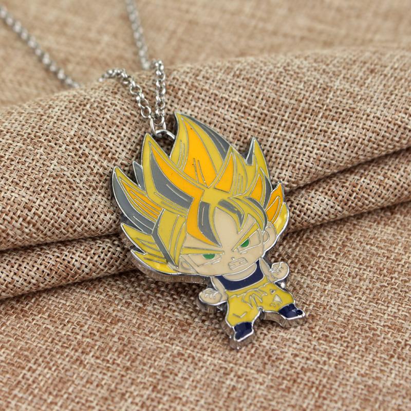 Kid Goku Super Saiyan Cute Metal Pendant Necklace