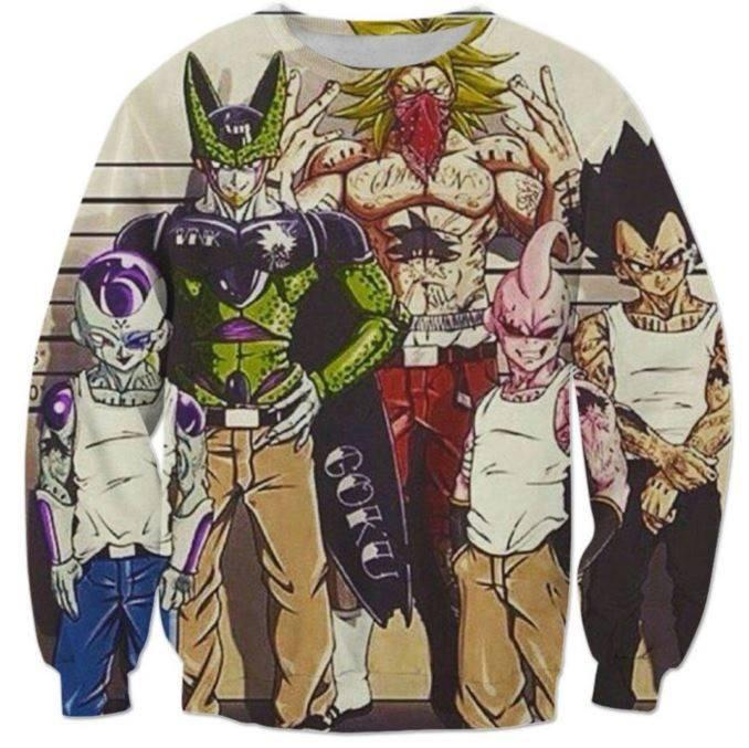 Usual Suspects Dragon Ball Z Wanted Vintage Sweatshirt