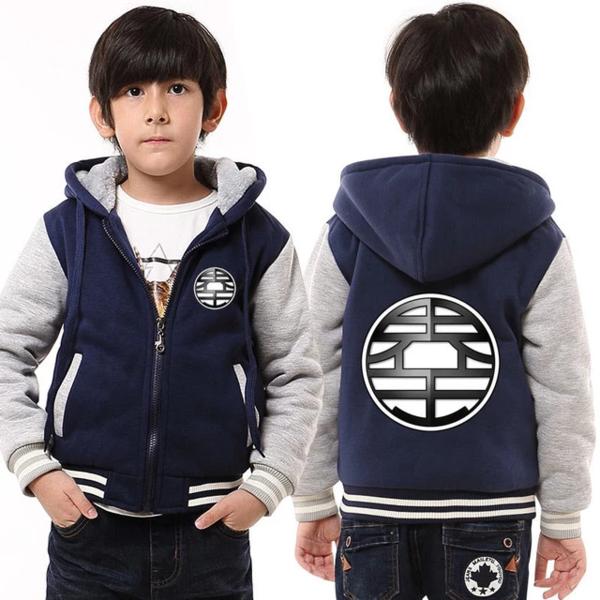 King Kai's World King Kanji Logo Comfy Kids Hooded Jacket