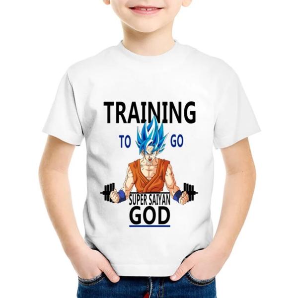 Dragon Ball Z Training To Go Super Saiyan God Kids T-Shirt